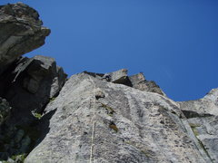 Rock Climbing Photo: On the second pitch of Sidelenblick (5c+), a great...