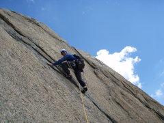 Rock Climbing Photo: Nice crack climbing on Kristall (5c), in the Krist...