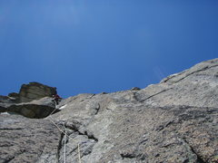 Rock Climbing Photo: The beautiful (trad) pitch three of Milchstrasse (...