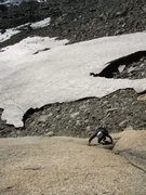 Rock Climbing Photo: Slabby climbing on pitch one of Gassi in the Josch...