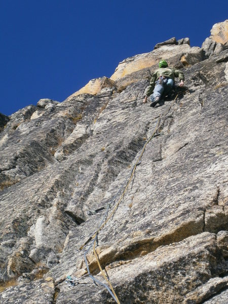 Rock Climbing Photo: Pitch seven - actually, got on a neighbouring rout...