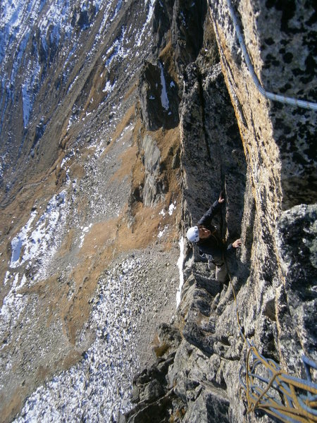 Rock Climbing Photo: At the end of the route, we continued up the ridge...