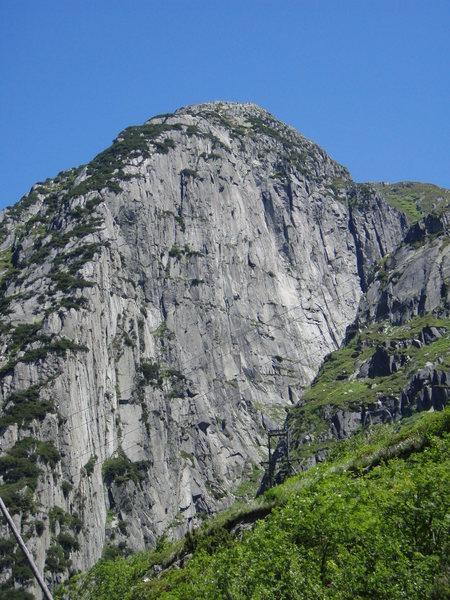 The impressive Teufelstal wall near Andermatt (as seen from the north)