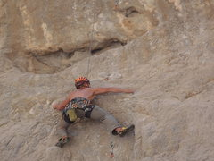 Rock Climbing Photo: Climbing the route again after leading. I love thi...