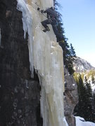Rock Climbing Photo: Alan following Crystal Meth.