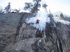 Rock Climbing Photo: Martin following Mixed Feelings.