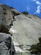 Rock Climbing Photo: Pitch ten of Zeichen der Freundschaft (6b+), the c...