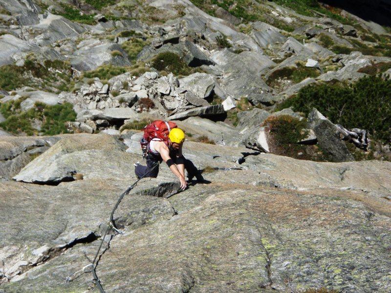 Rock Climbing Photo: Pitch five of Zeichen der Freundschaft (6b)