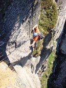 Rock Climbing Photo: Zeichen der Freundschaft, in the thin upper sectio...