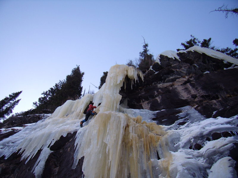 Rock Climbing Photo: Mike Walley.  RMNP Loch Vale practice area.  Dec 2...