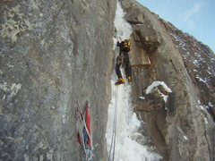Rock Climbing Photo: P2 Ames Ice Hose.