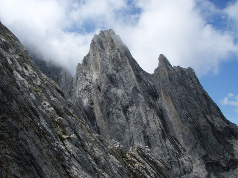 The imposing north face of the Kingspitz