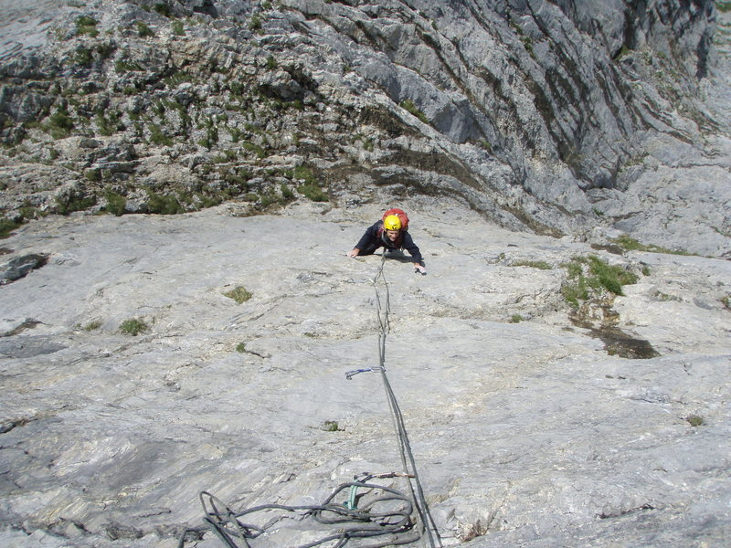 Rock Climbing Photo: Excellent, technical face climbing on pitch three ...
