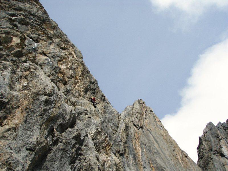 Rock Climbing Photo: Pitch seven on Naebel und Chempae (5c+)