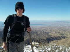 Rock Climbing Photo: me at the summit of crossman peak