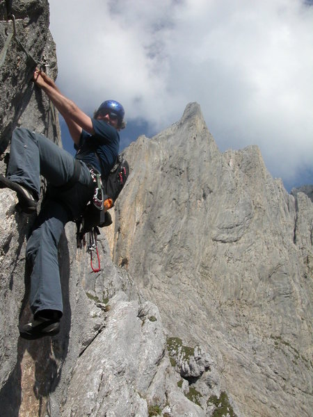 Rock Climbing Photo: Gagelfänger, in one of the upper pitches in the m...