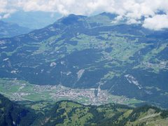 Rock Climbing Photo: Looking down on Meiringen from the top of the Gros...
