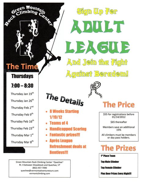 Adult Climbing League