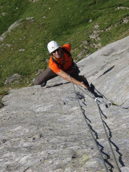 Pitch three of Gatsch (5a) - entertaining and suprisingly demanding for the grade.