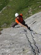 Rock Climbing Photo: Pitch three of Gatsch (5a) - entertaining and supr...