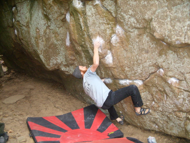 Rock Climbing Photo: getting set for throw