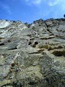 Rock Climbing Photo: Pitch one of Pissoir du Diable (6a)