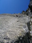 Rock Climbing Photo: Pitch five of Pissoir du Diable (6a) - stay in the...
