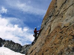 Rock Climbing Photo: Pitch two of the Southwest Pillar begins with an i...