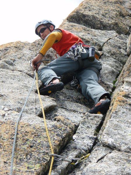 Rock Climbing Photo: Pitch three of the Southwest Pillar (5b) - fantast...