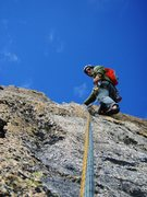 Rock Climbing Photo: Southwest Pillar: a trivial final pitch to gain th...
