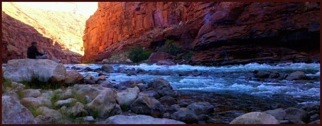 Having some tea with the Colorado River, Rider Canyon, AZ<br> <br> Wade Forrest Photo