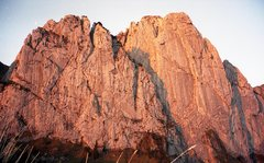 Rock Climbing Photo: Bockmattli north face catching the sunset