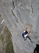 Rock Climbing Photo: Climbing in the Laeged Windgaellen area on the Kla...