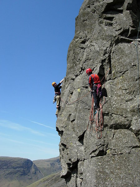 Tom and Will Ripley on The Buttonhook Route .Kern Knotts 2009. photo Ron Kenyon