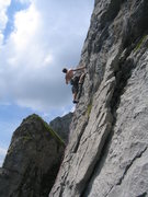 Rock Climbing Photo: Climbing at Marchstoekli - an awesome, secluded cr...