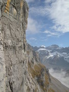 Rock Climbing Photo: View to the east in the Flacher Pfeiler route