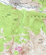 Rock Climbing Photo: Bear Creek area.  From USGS Telluride, Colo. 7.5' ...