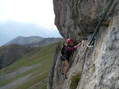 Rock Climbing Photo: Petra H in good spirits at the Hoech Nossen area