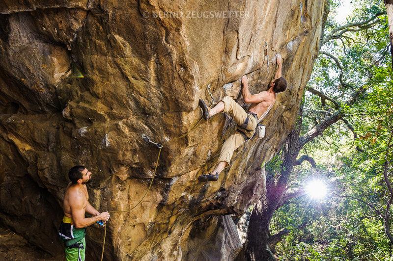 Rock Climbing Photo: Andy Patterson on Trebuchet. Photo courtesy of Ber...