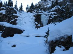 Rock Climbing Photo: Upper Bear Creek Falls (WI2-3), Telluride, CO.