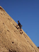 "Rock Climbing Photo: A climber above the crux of ""Aenea."""