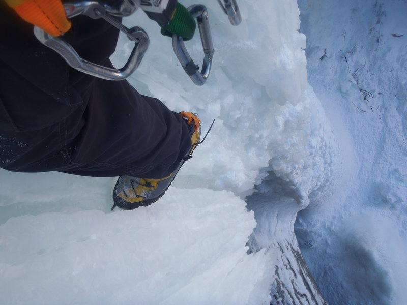 This is why Ice climbing is radtastic bro