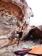 Rock Climbing Photo: Brandon on Bloody Flapper