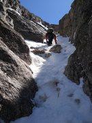 Rock Climbing Photo: Dreamweaver approach.  Tim likes glissade, I carri...