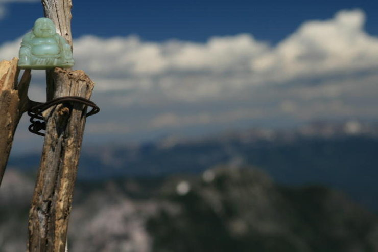 Rock Climbing Photo: Summit Buddha, Pagosa Peak. The Buddha has been to...