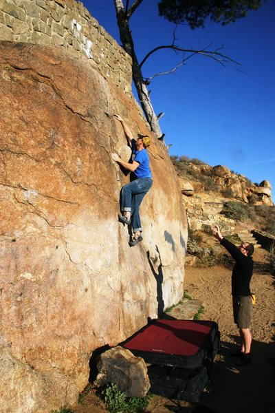 Beehive Crack just passed the crux move