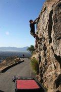 Rock Climbing Photo: Enjoying the better holds on Borson's Leftside