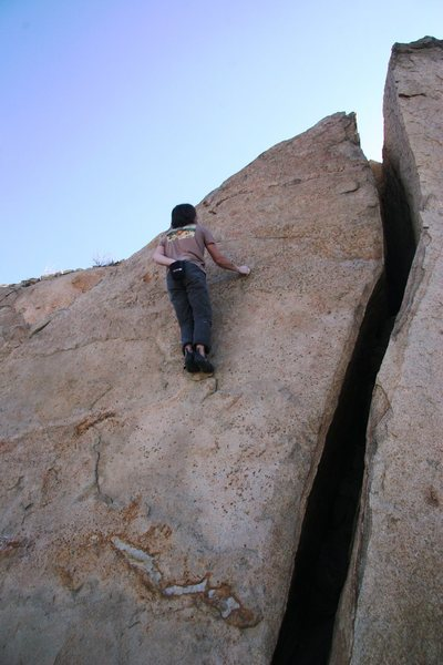 Rock Climbing Photo: High up on the Triangle Face.