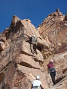 Rock Climbing Photo: Scott climbing up one of the routes on 'Teddy Bear...
