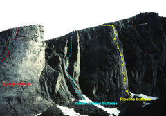 Rock Climbing Photo: Tycho Wall (Cirque of the Moon) with Pipeline and ...